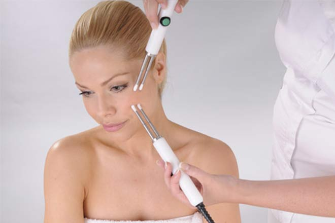 Lady Having CACI Treatment In Newport